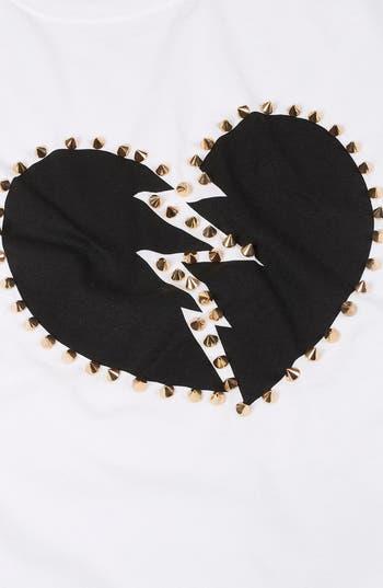Alternate Image 3  - Topshop 'Broken Heart' Studded Tee