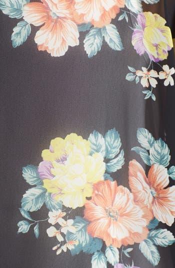 Alternate Image 3  - Lush Lace Inset Woven Kimono (Juniors)