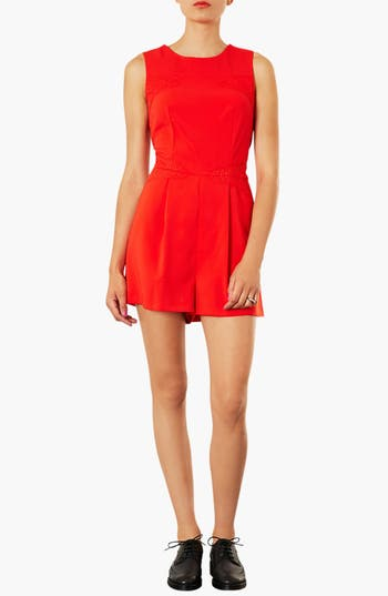 Alternate Image 1 Selected - Topshop Lace Panel Romper