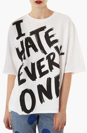 Alternate Image 1 Selected - Topshop 'I Hate Everyone' Tee