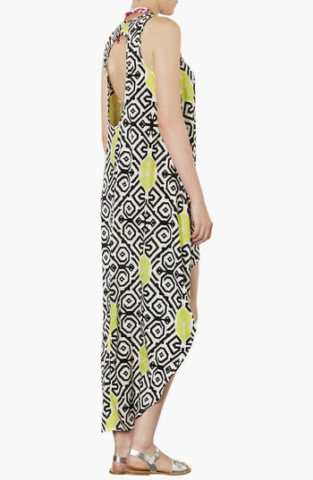 Alternate Image 2  - Topshop Tile Print High/Low Cover-Up