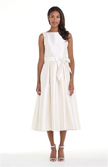 Faille Satin Fit & Flare Dress, video thumbnail