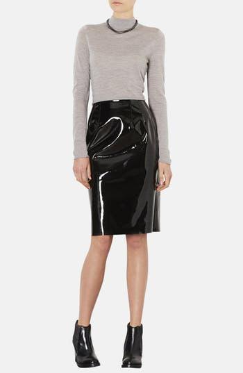 Alternate Image 4  - Topshop Vinyl Pencil Skirt
