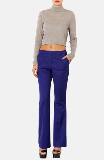 Alternate Image 4  - Topshop Piped Flare Leg Trousers