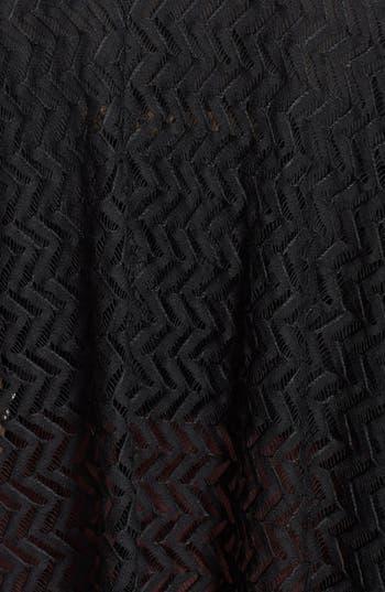 Alternate Image 3  - Liberty Love Chevron Lace Oversized Cardigan (Juniors) (Online Only)