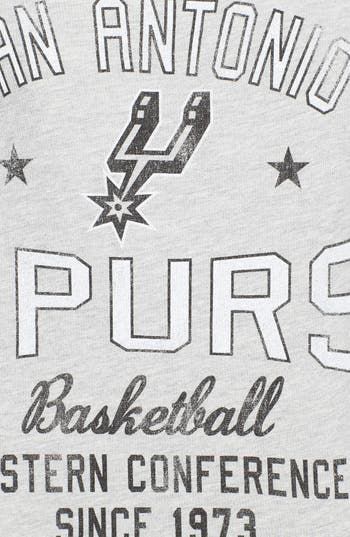 Alternate Image 3  - Sportiqe 'San Antonio Spurs' Fleece Crop Sweatshirt (Juniors) (Online Only)