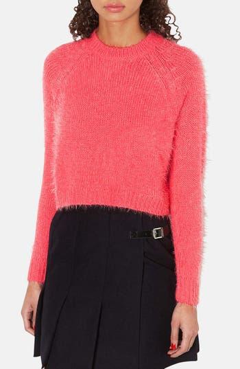 Main Image - Topshop Textured Crop Sweater