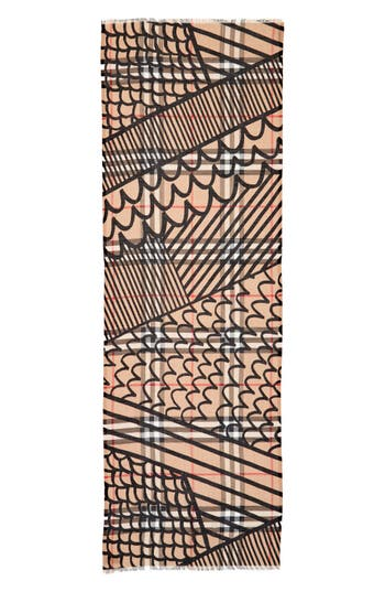 Patchwork Gauze Check Scarf by Burberry