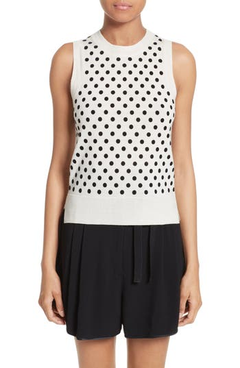 MARC JACOBS Polka Dot Knit Shell
