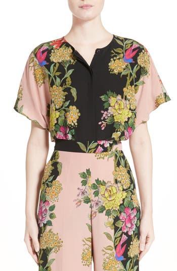 Etro Floral Print Silk Top