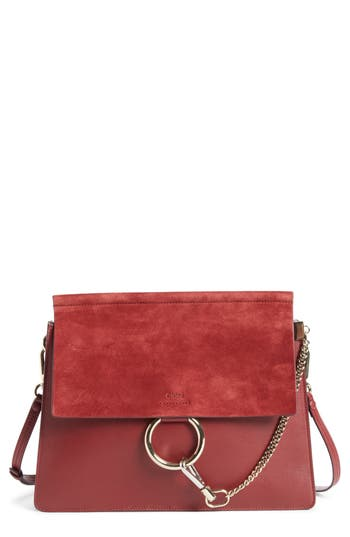 Chloé Faye Suede & Leather Sh..