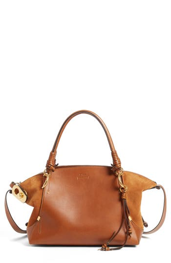 Chlo? Medium Owen Calfskin Leather Tote
