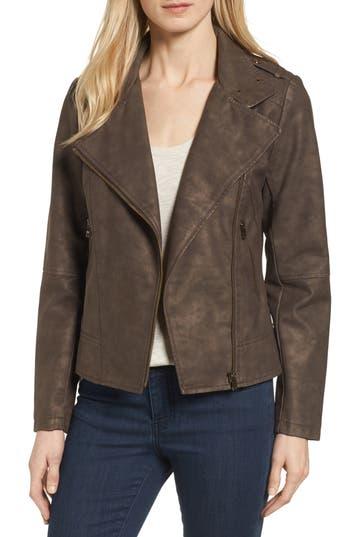 Catherine Catherine Malandrino Faux Leather Moto Jacket