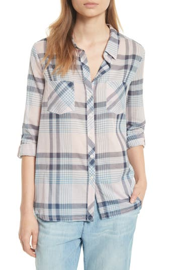 Soft Joie Lilya Plaid Cotton Shirt