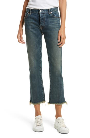 Nili Lotan Raw Edge Crop Boyfriend Jeans (Walker)