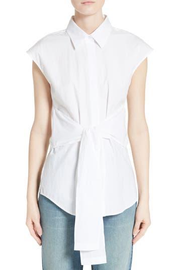 T by Alexander Wang Tie Waist Cotton Top