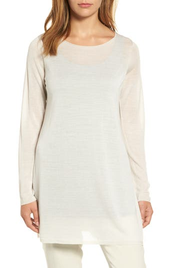 Eileen Fisher Side Slit Te..