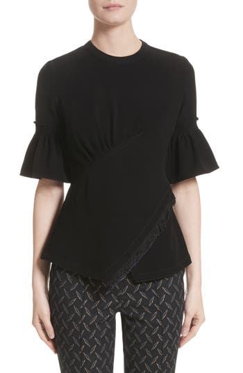 Yigal Azrouël Smocked Crepe Top