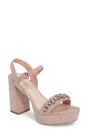 Topshop Lovely Embellished Platform Sandal (Women)