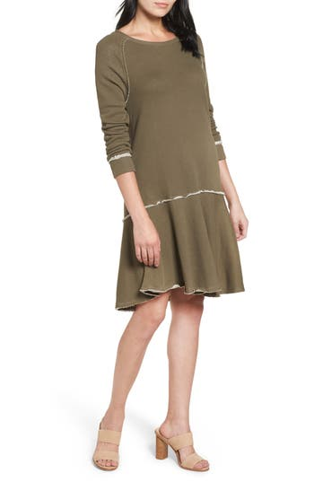 Caslon® Ruffle Hem Knit Dress (Regular & Petite)