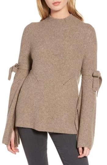 Chelsea28 Tie Bell Sleeve Sweater