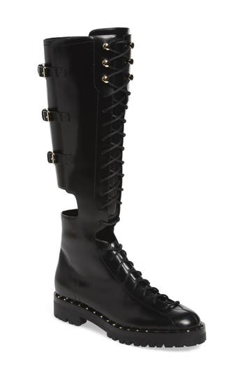 VALENTINO GARAVANI Soul Rockstud Knee High Cutout Boot (Women)