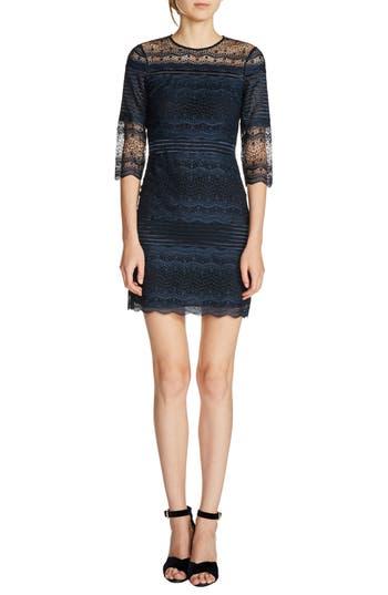 maje Lace Sheath Dress