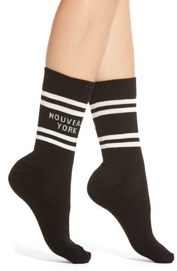 kate spade new york nouveau york crew socks (3 for $24.00)