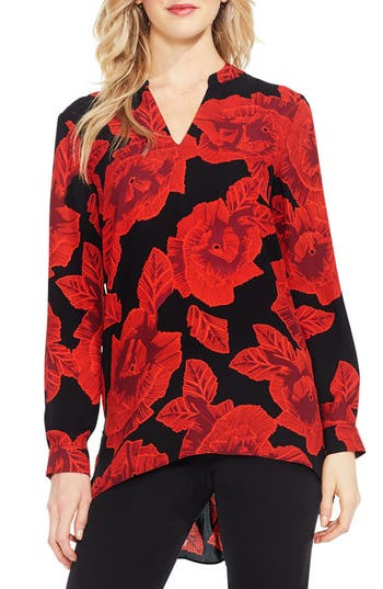 Vince Camuto Long Sleeve Floral Tunic
