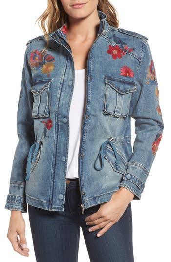 Billy T Embroidered Denim Utility Jacket