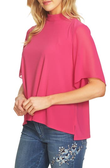 CeCe Mock Neck Top