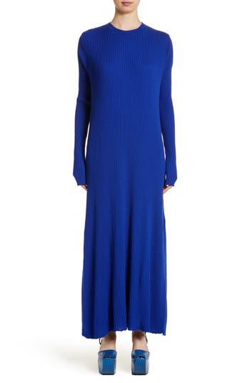 Marques'Almeida Rib Knit Wool Maxi Dress