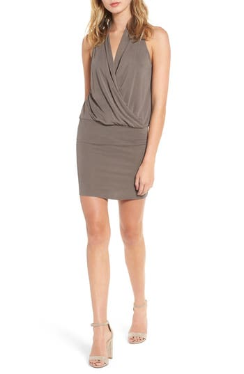 Halter Blouson Dress