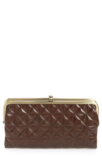 Hobo Lauren Quilted Calfskin Leather Wallet