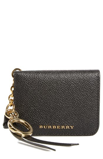 Burberry Camberwellid Leather Card Case Bag Charm