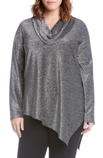 Karen Kane Asymmetrical Sparkle Top (Plus Size)