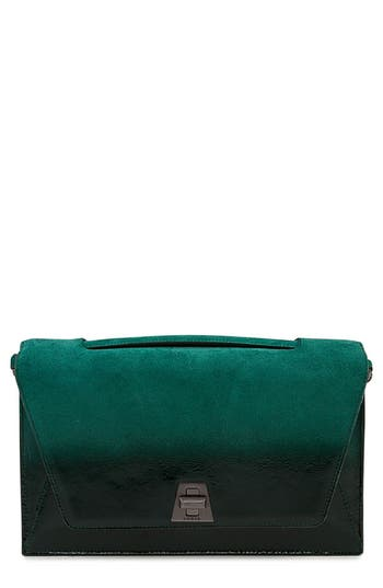 Akris Anouk City Lacquered Leather Crossbody Bag
