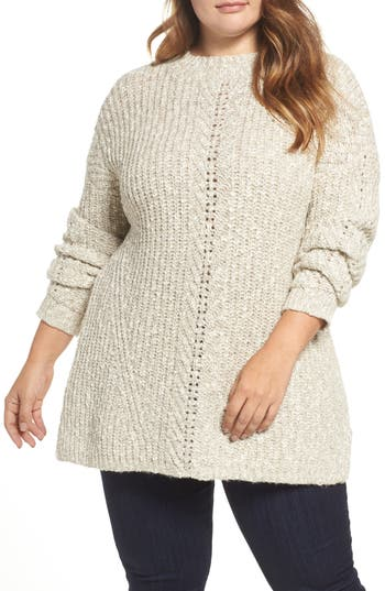 Lucky Brand Open Stitch Sweater (Plus Size)