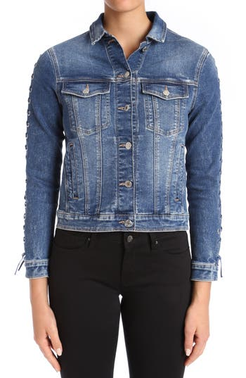 Mavi Jeans Katy Lace-Up Sleeve Denim Jacket
