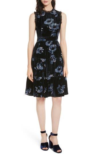 kate spade new york night rose velvet dress