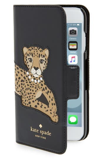 kate spade iphone case kate spade new york cheetah appliqu 233 iphone 7 8 folio 15594