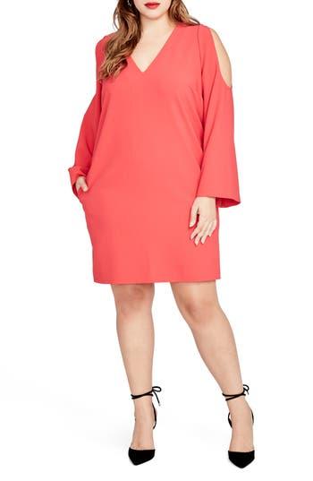 RACHEL Rachel Roy Cold Shoulder Shift Dress (Plus Size)