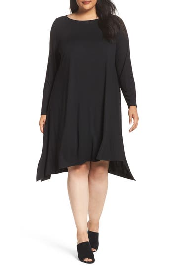 Eileen Fisher Jersey Tunic Dress (Plus Size)