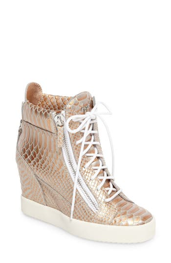 Giuseppe Zanotti Lamay Lorenz High Top Wedge Sneaker (Women)