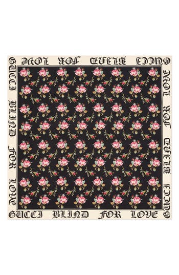 Blind For Love Rose Foulard Scarf by Gucci