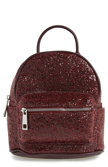 Street Level Glitter Zip Backpack
