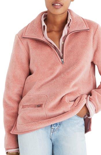 Madewell Zooey Fleece Pullover
