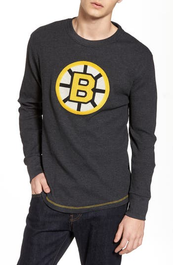 Boston Bruins Embroidered Long Sleeve Thermal Shirt by American Needle