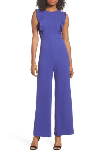 Ruffle Jumpsuit by Charles Henry
