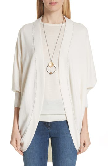 Cashmere Jersey Knit Cocoon Cardigan by St. John Collection
